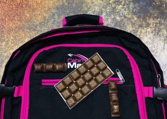 Chocolat en bagage cabine
