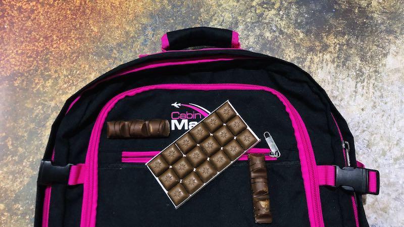 Du chocolat dans le bagage à main? La règle noir sur blanc!