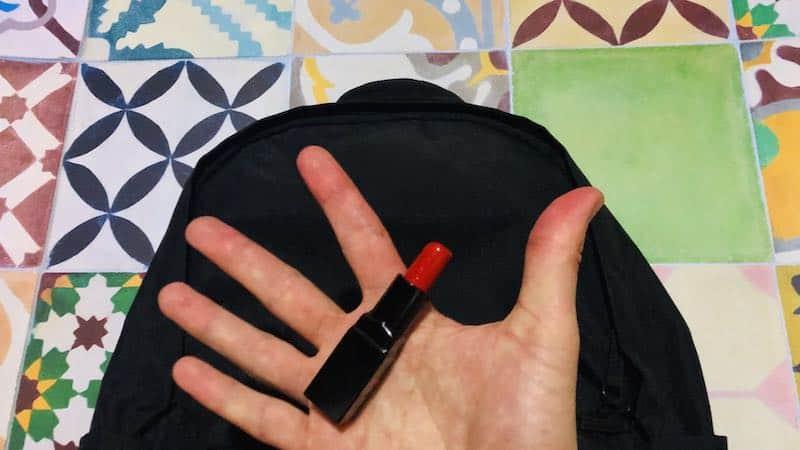 Feu vert pour le rouge à lèvres dans mon bagage à main?