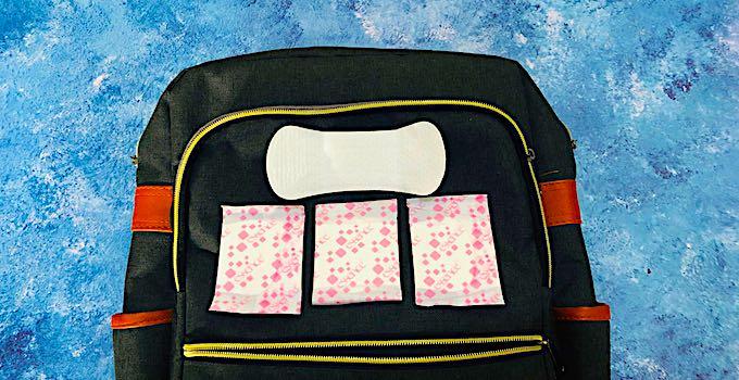 Serviettes hygiéniques en bagage cabine