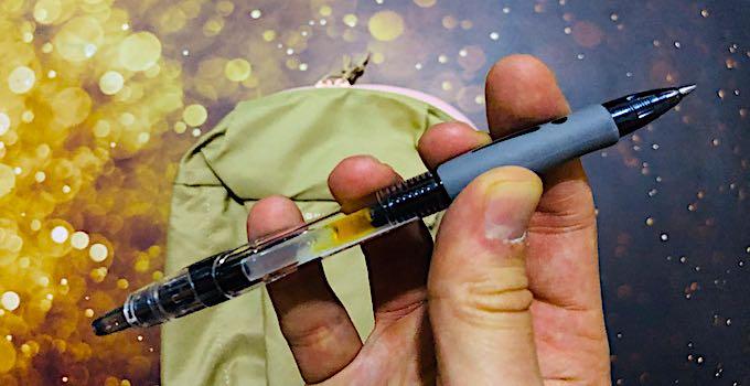 stylo à bille en bagage à main