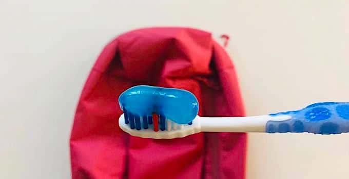 Dentifrice en bagage cabine