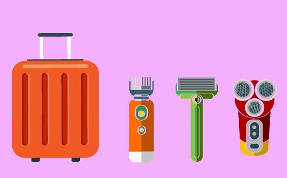 Rasoir en bagage cabine