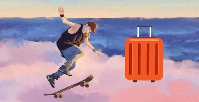 Skateboards en cabine