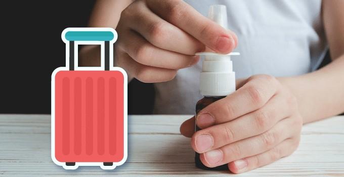Spray nasal en bagage cabine