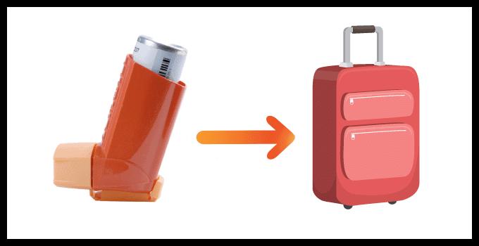 Les sprays contre l'asthme en bagage cabine