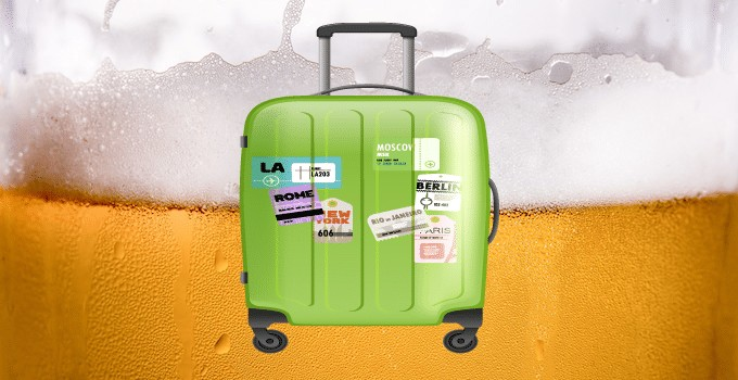 Bière en bagage de soute