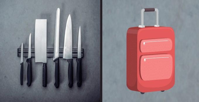 Couteaux de cuisine en bagage de soute: conseils & astuces