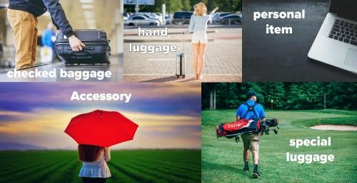 définitions des termes bagages en anglais